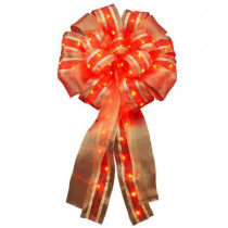 14in. Ribbon Bow LED Red