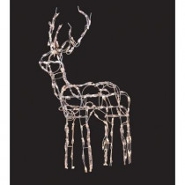 48 in. Pre-Lit White Wire Reindeer