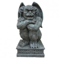 36 in. Large Gargoyle Statue with LED Lights