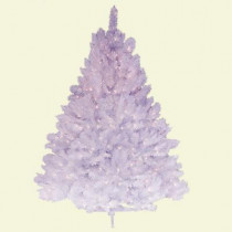 4.5 ft. Pre-Lit Deluxe Winter White Fir Artificial Christmas Tree with Clear Lights