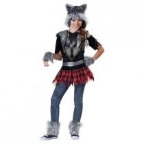 Girls Wear Wolf Costume