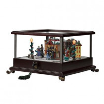 10.5 in. Holiday Music Box - Skaters