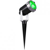 3.54 in. Green LED Outdoor Spot Light (2-Pack)