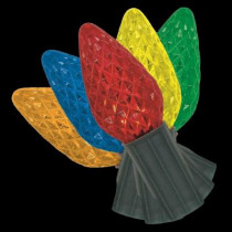 25-Light LED C9 72-Function Red/Green/Blue Light Set with Remote