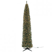 9 ft. Brighton Pencil Artificial Christmas Tree with 500 Clear Lights