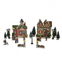 6 in. Porcelain Village Set (20-Piece)