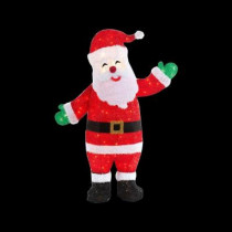 48 in. Pre-Lit Tinsel Animated Santa