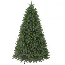 10 ft. Feel-Real Downswept Douglas Fir Artificial Christmas Tree with 1000 Multi-Color Lights