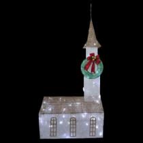 6 ft. Pre-Lit Twinkling Church