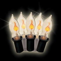 C7 7-Light Yellow Halloween Flicker Flame Light Set (Set of 2)