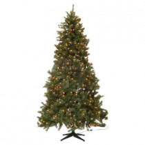 7.5 ft. Wesley Mixed Spruce Quick-Set Artificial Christmas Tree with 650 Clear Lights
