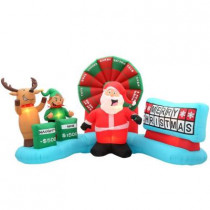 9 ft. W Inflatable Lighted Christmas Wheel