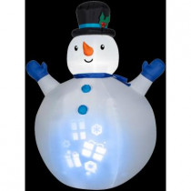 7 ft. H Inflatable Panoramic Projection Snowman