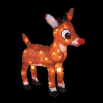 18 in. Pre-Lit Rudolph with Blinking Red Nose
