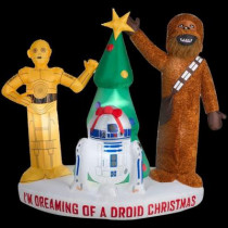 6 ft. H Inflatable I'm Dreaming of a Droid Christmas with C3PO, R2D2 and Chewbacca