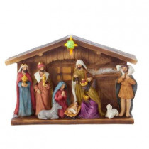 12 in. Battery-Operated Nativity Table-Set