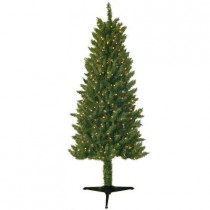 6 ft. Pre-Lit Slender Spruce Artificial Christmas Tree with Clear Lights