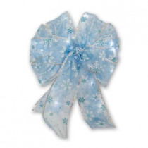 Blue Ice Lighted LED Bow