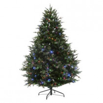 7.5 ft. Deluxe Balsam Fir EZ Power Artificial Christmas Tree with 660 Color Choice LED Lights and Remote Control