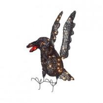 30 in. Pre-Lit Grapevine Crow