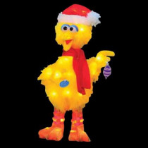18 in. Pre-Lit Sesame Street Big Bird with Scarf