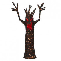 72 in. 150-Light Tinsel Ghost Tree