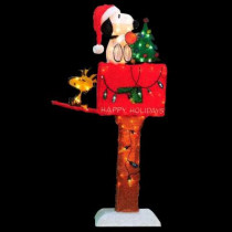 48 in. Animated Snoopy on Mailbox