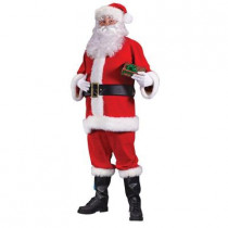 Plus Size Flannel Santa Suit for Adults