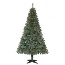 6.5 ft. Verde Spruce Artificial Christmas Tree with 400 Multi-Color Lights