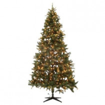 9 ft. Wesley Mixed Spruce Quick-Set Full Artificial Christmas Tree with 850 Clear Lights
