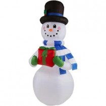 6.5 ft. H Inflatable Snowman with Present