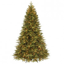 7.5 ft. Pomona Pine Artificial Christmas Tree with Clear Lights