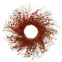 24 in. Unlit Berry Artificial Wreath