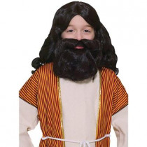 Brown Biblical Wig and Beard Children's Set