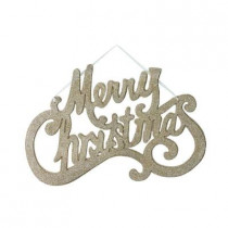 12 in. Silver Merry Christmas Sign