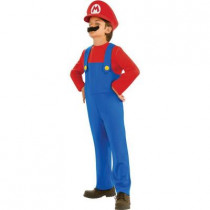Child Super Mario Bros Mario Costume