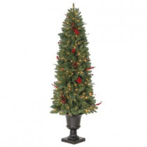 6 ft. Winslow Potted Artificial Christmas Tree with 200 Clear Lights
