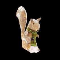 20 in. Pre-Lit Burlap Squirrel