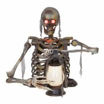 Animated Skeleton Ground Breaker with LED-Illuminated Eyes and Lantern