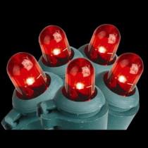 100-Light LED Red Dome Lights