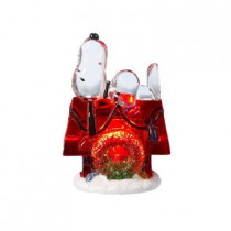3 in. Battery-Operated Snoopy with Doghouse LED Table-Piece