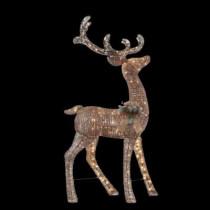 5 ft. Pre-Lit Grapevine Standing Deer