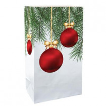 11 in. Christmas Balls Luminaria Bags (Count of 24)