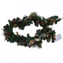 6 ft. Unlit Feathers and Fruit Artificial Garland