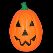 21 in. Lighted Happy Pumpkin