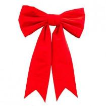 36 in. x 55 in. Giant Red Velvet Bow