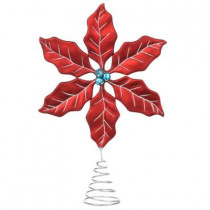 12 in. North Pole Poinsettia Tree Topper