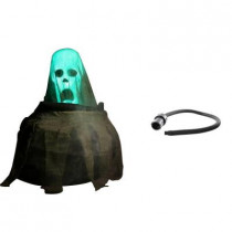 Animated Cauldron and Rising Ghost with Fog Hose