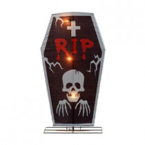 48 in. Pre-Lit RIP Tombstone