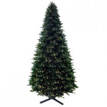12 ft. Pre-Lit LED Regal Fir Artificial Christmas Tree with Dual Function Lights